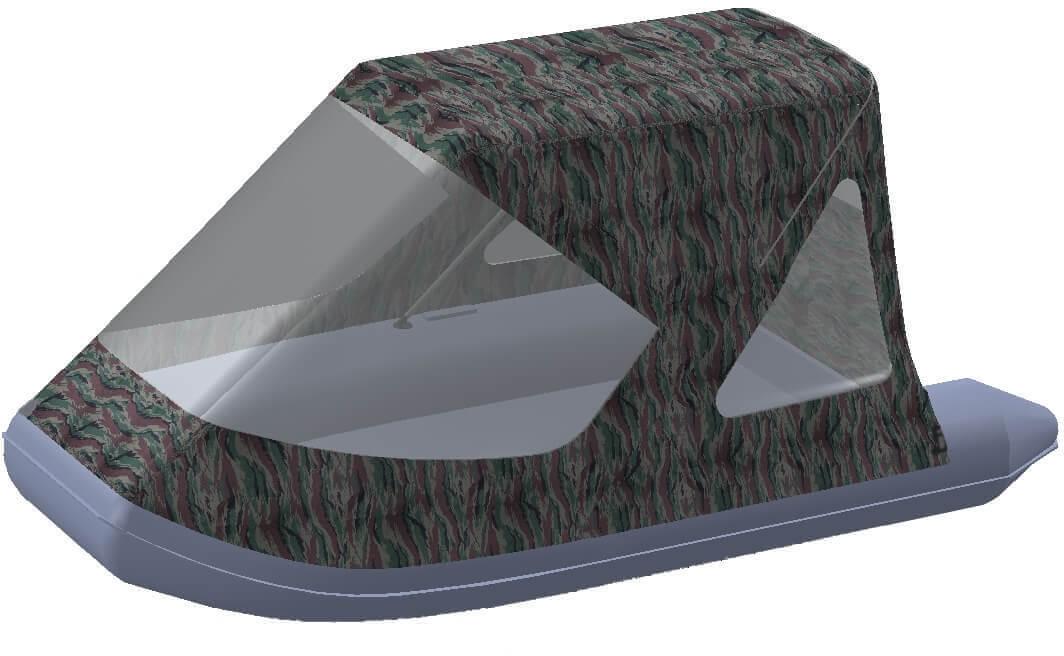 Тент трансформер на лодку AZIMUT (Азимут) Vector 340 - фото 7