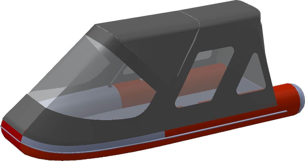 Тент трансформер на лодку Altair (Альтаир) ORION 550 - фото 5