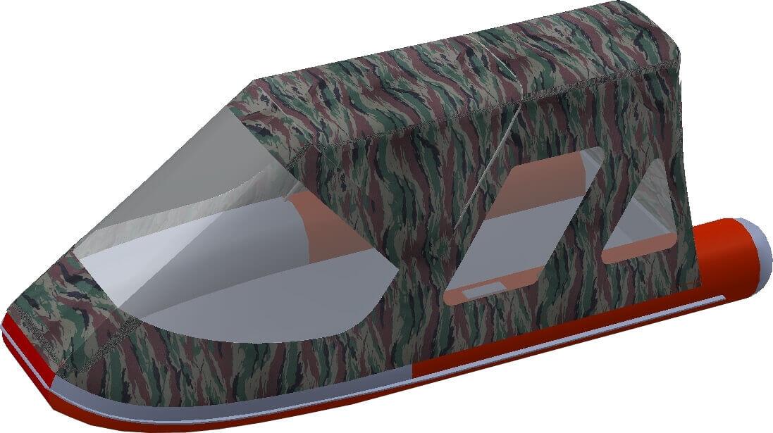 Тент трансформер на лодку Altair (Альтаир) ORION 550 - фото 6