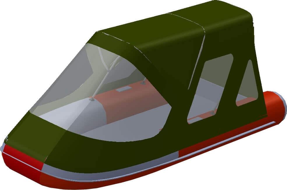 Тент трансформер на лодку Altair (Альтаир) ORION 550 - фото 7