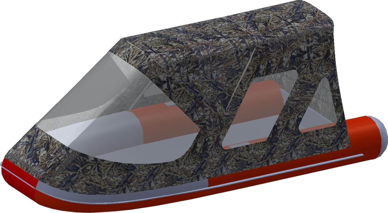 Тент трансформер на лодку Altair (Альтаир) ORION 550 - фото 8