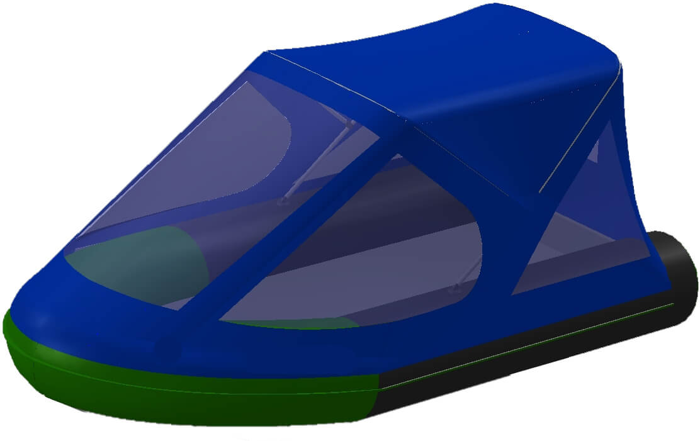 Тент трансформер на лодку BoatMaster (БотМастер) 250К - фото 1