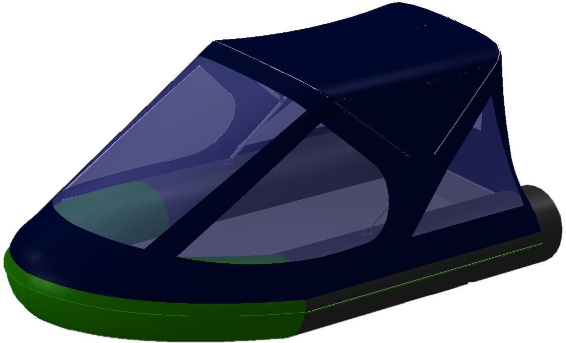 Тент трансформер на лодку BoatMaster (БотМастер) 250К - фото 5