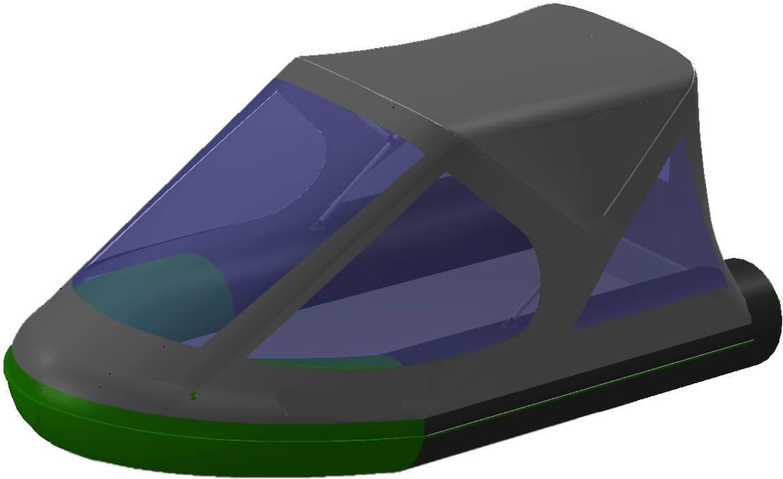 Тент трансформер на лодку BoatMaster (БотМастер) 250К - фото 10