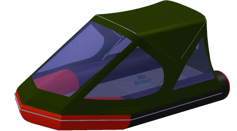 Тент трансформер на лодку Лоцман М300 (Киль) - фото 8