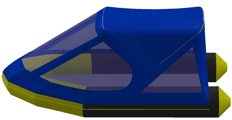Тент трансформер на лодку Quicksilver (Квиксильвер) Heavy-Duty 380 - фото 5