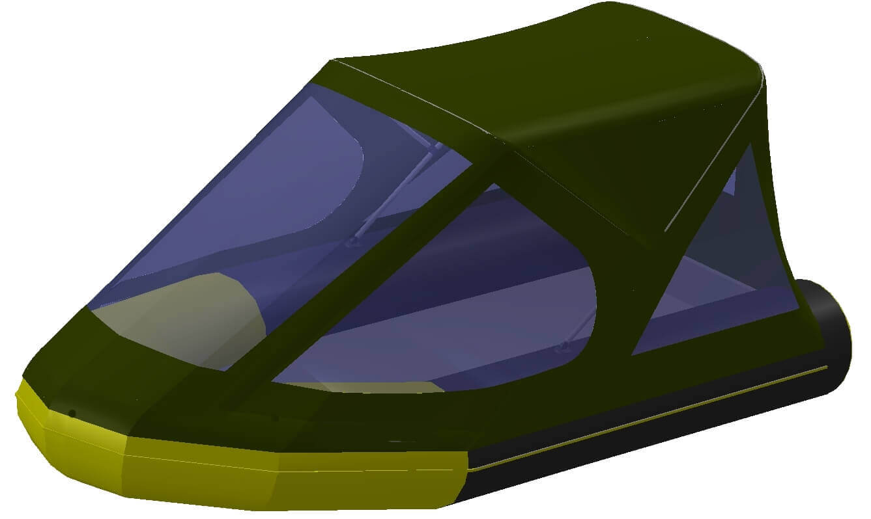Тент трансформер на лодку Quicksilver (Квиксильвер) Heavy-Duty 380 - фото 1