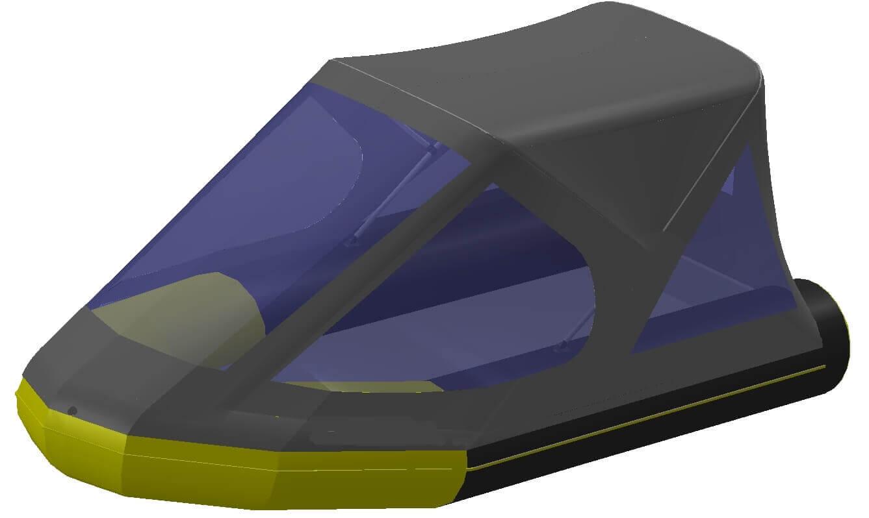Тент трансформер на лодку Quicksilver (Квиксильвер) Heavy-Duty 380 - фото 8