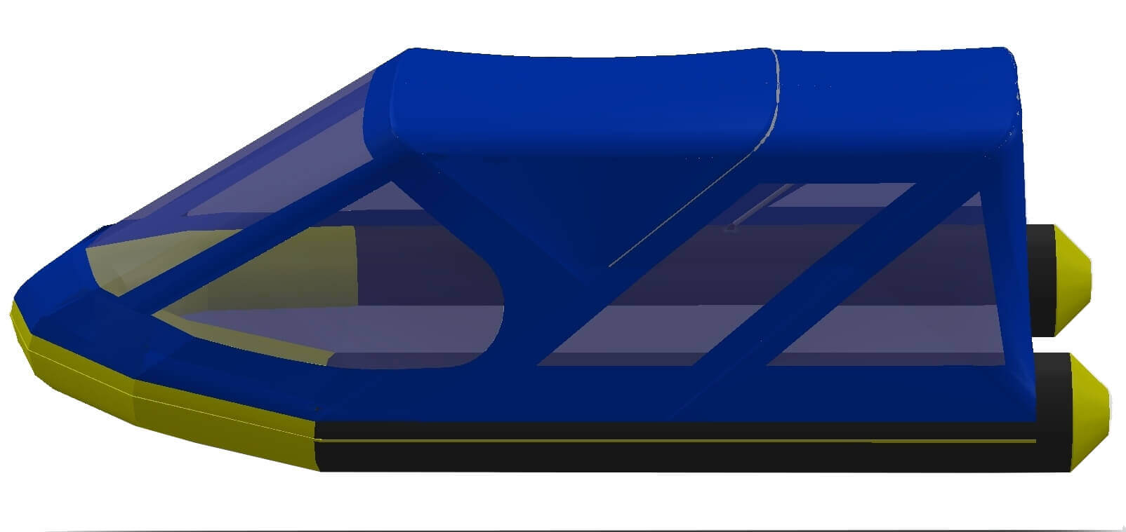 Тент трансформер на лодку Quicksilver (Квиксильвер) Heavy-Duty 530 - фото 5