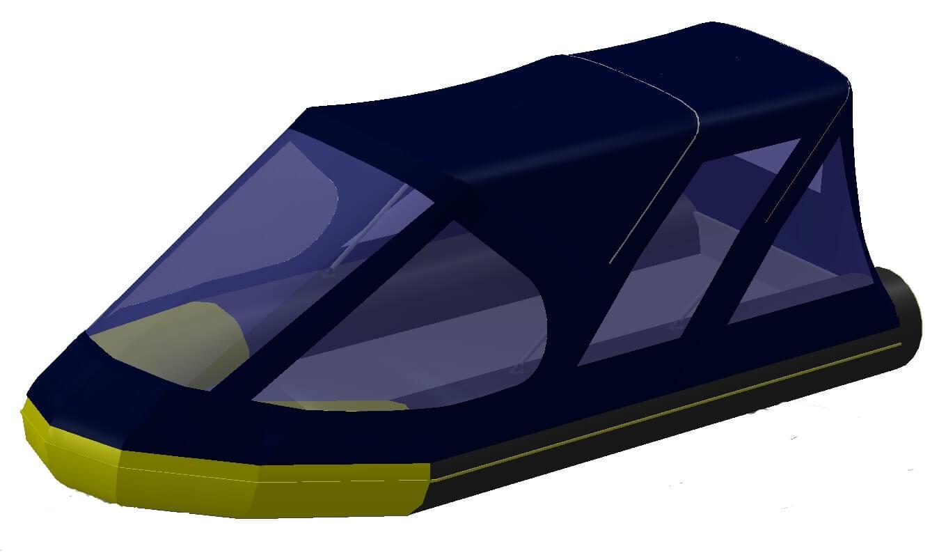 Тент трансформер на лодку Quicksilver (Квиксильвер) Heavy-Duty 530 - фото 7