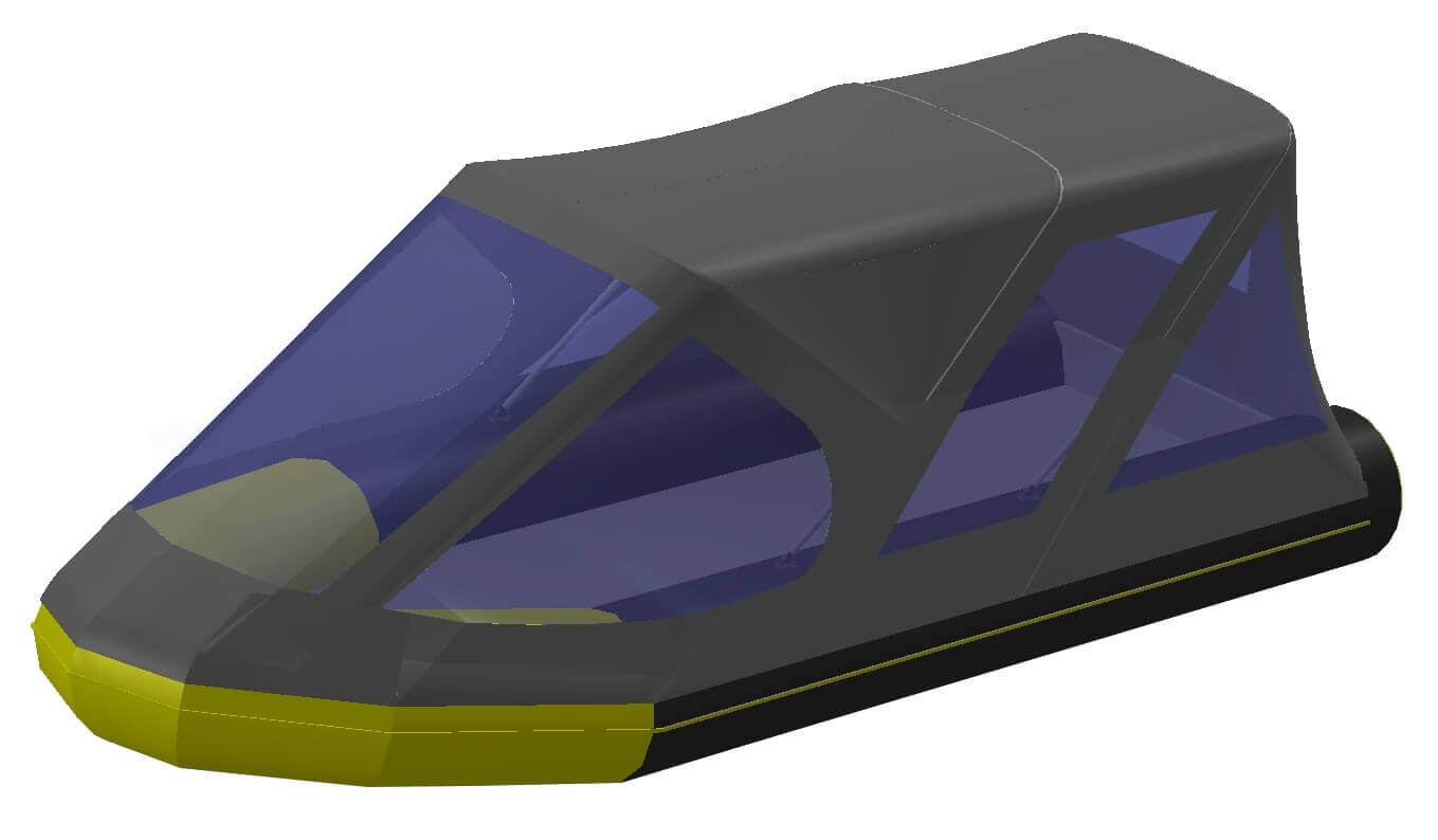 Тент трансформер на лодку Quicksilver (Квиксильвер) Heavy-Duty 530 - фото 9