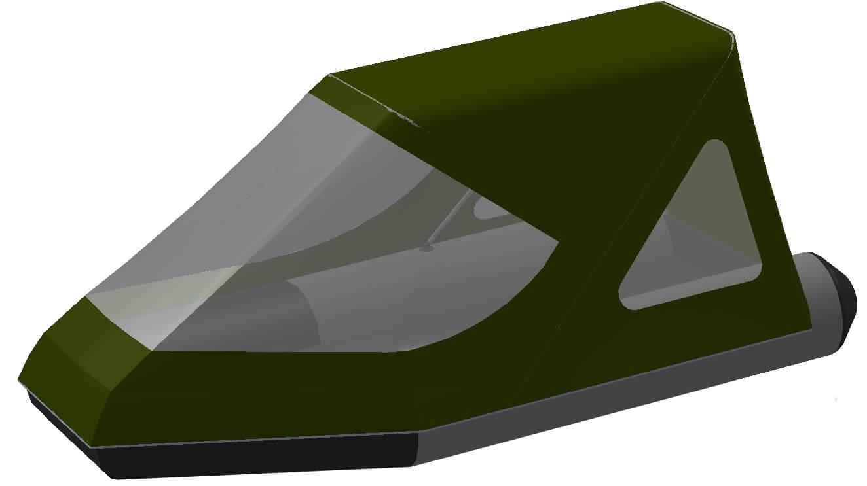 Тент трансформер на лодку Grinda (Гринда) 270ТНД - фото 7