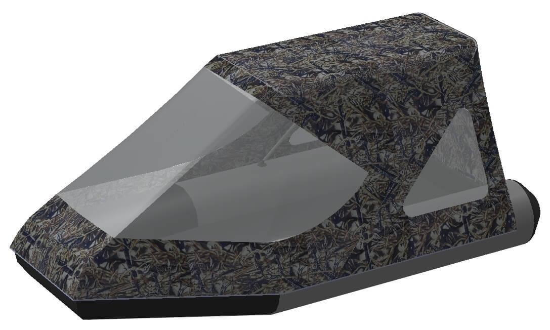 Тент трансформер на лодку Aqua-Storm (Аква Шторм) STM 280 - фото 8
