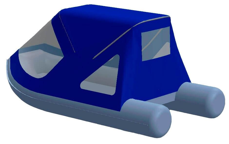 Тент трансформер на лодку Лоцман Пилот М-320 НДНД - фото 3