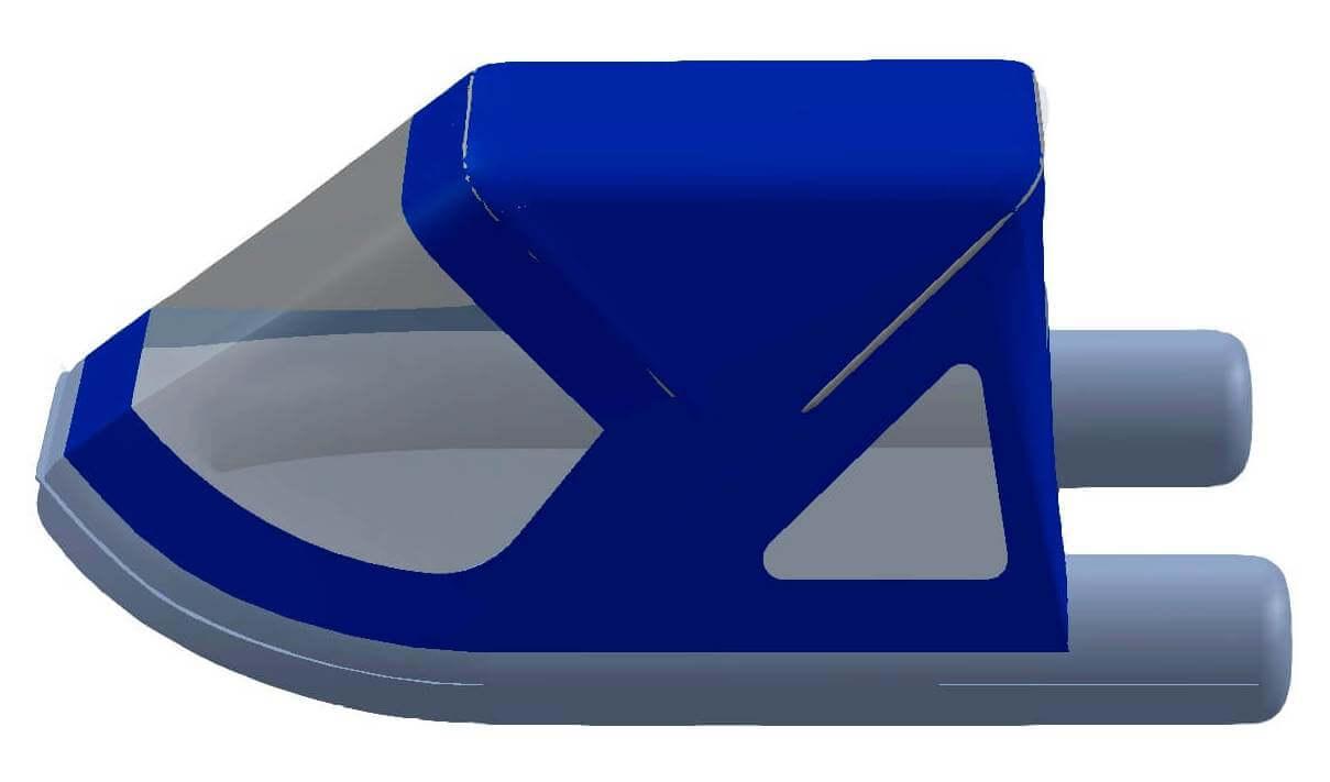 Тент трансформер на лодку Лоцман Пилот М-320 НДНД - фото 4