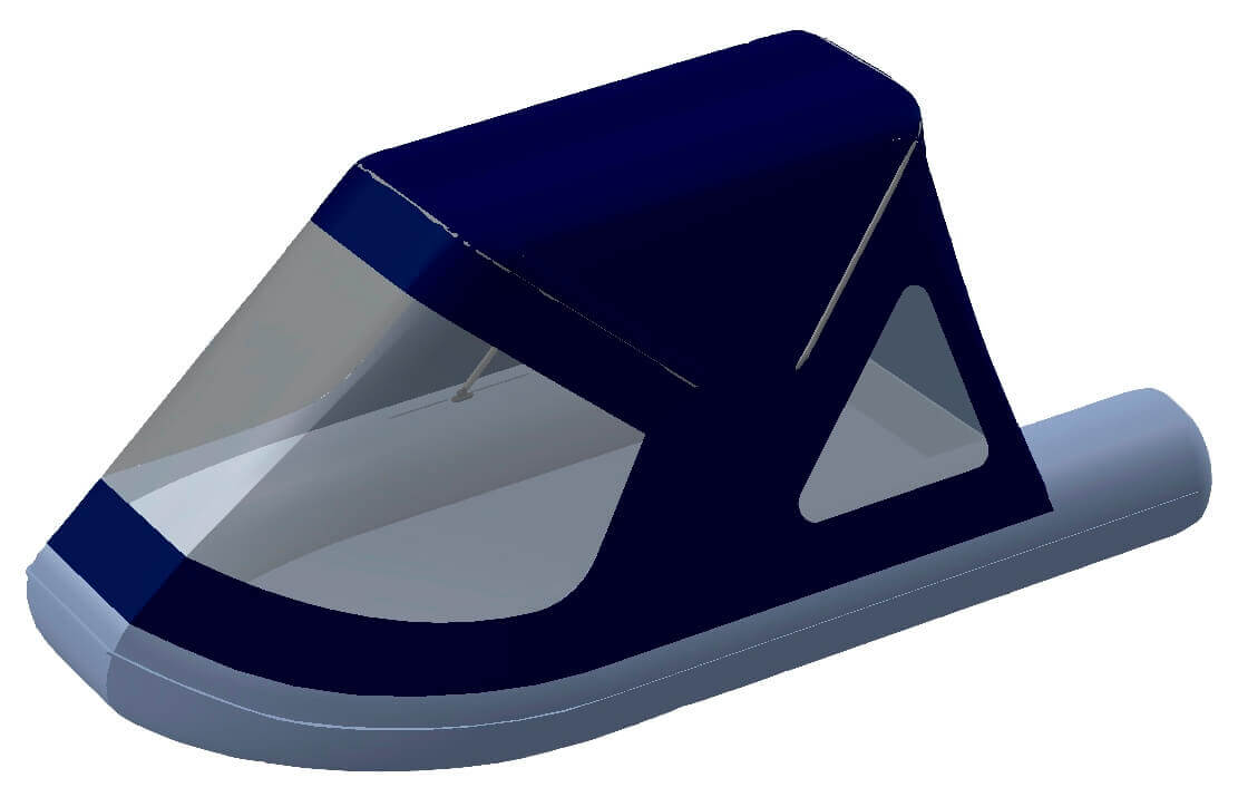 Тент трансформер на лодку RUSH (Раш) 2800 - фото 6