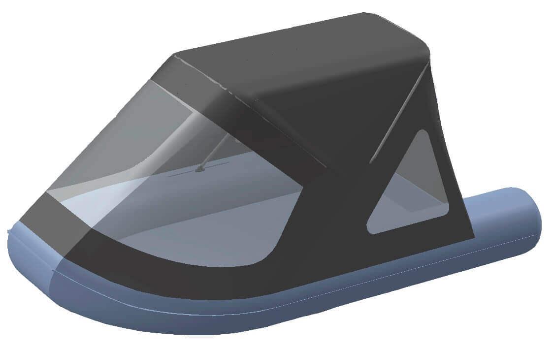 Тент трансформер на лодку RUSH (Раш) 2800 - фото 1