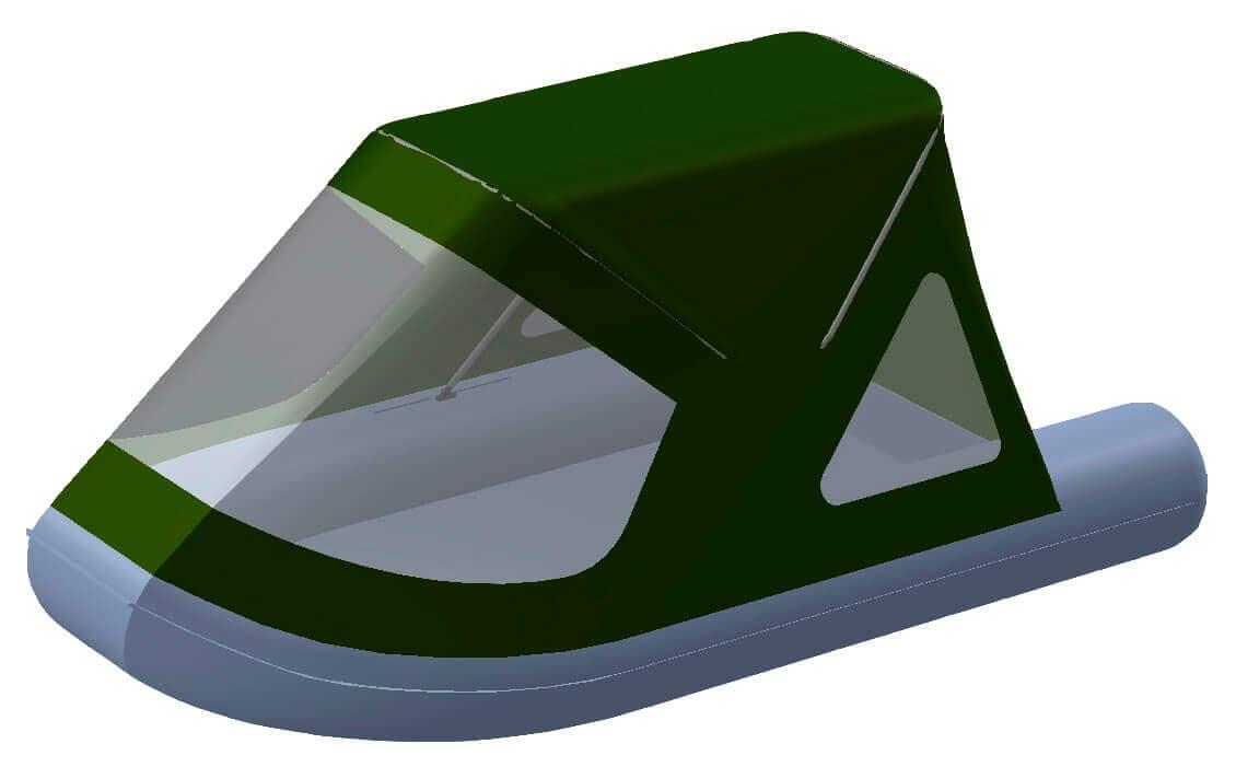 Тент трансформер на лодку RUSH (Раш) 2800 - фото 8