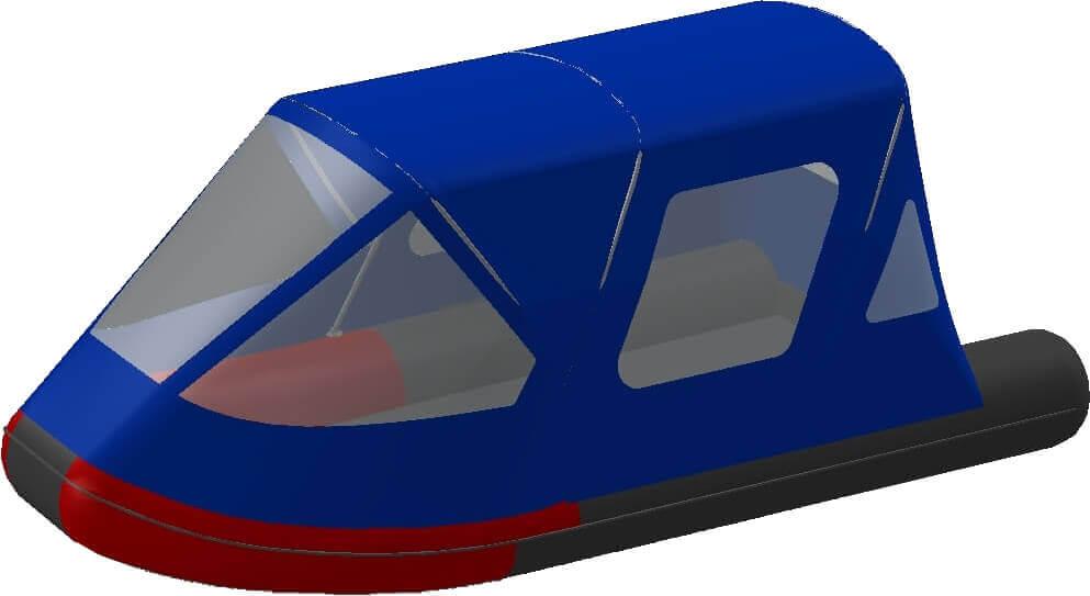 Тент трансформер на лодку AZIMUT (Азимут) Taifun 450 - фото 2