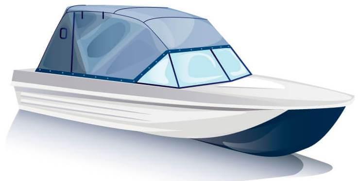 Ходовой тент на лодку Сарепта без рубки комплектация Эконом - фото 2