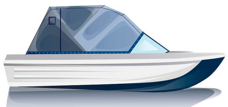 Ходовой тент на лодку Сарепта без рубки комплектация Эконом - фото 1