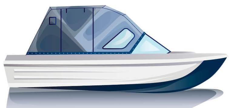 Ходовой тент на лодку Сарепта без рубки комплектация Комфорт - фото 1
