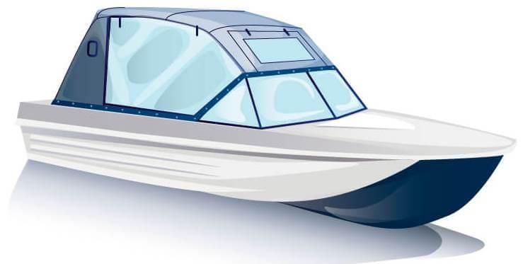 Ходовой тент на лодку Сарепта без рубки комплектация Капитан - фото 2