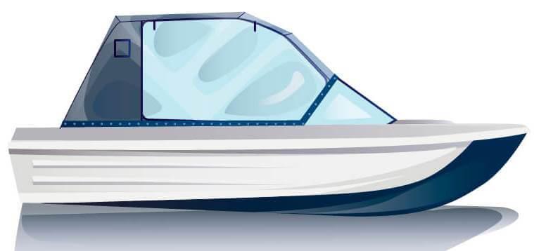 Ходовой тент на лодку Сарепта без рубки комплектация Капитан - фото 1