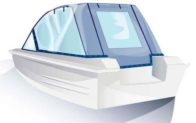 Ходовой тент на лодку Сарепта без рубки комплектация Универсал - фото 3