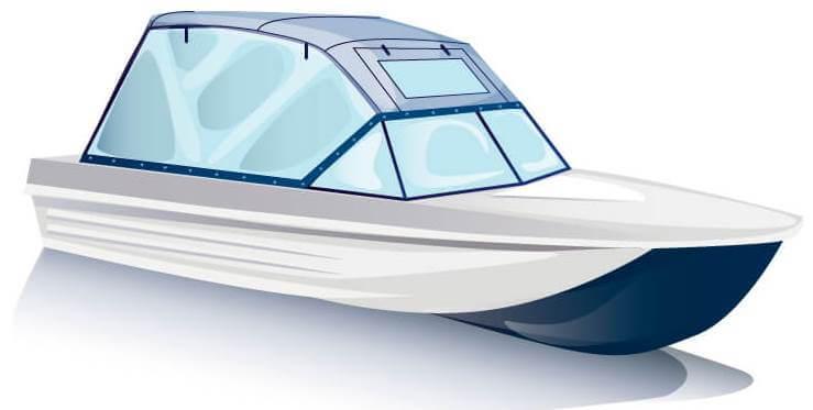 Ходовой тент на лодку Сарепта без рубки комплектация Универсал - фото 2
