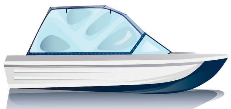 Ходовой тент на лодку Сарепта без рубки комплектация Универсал - фото 1