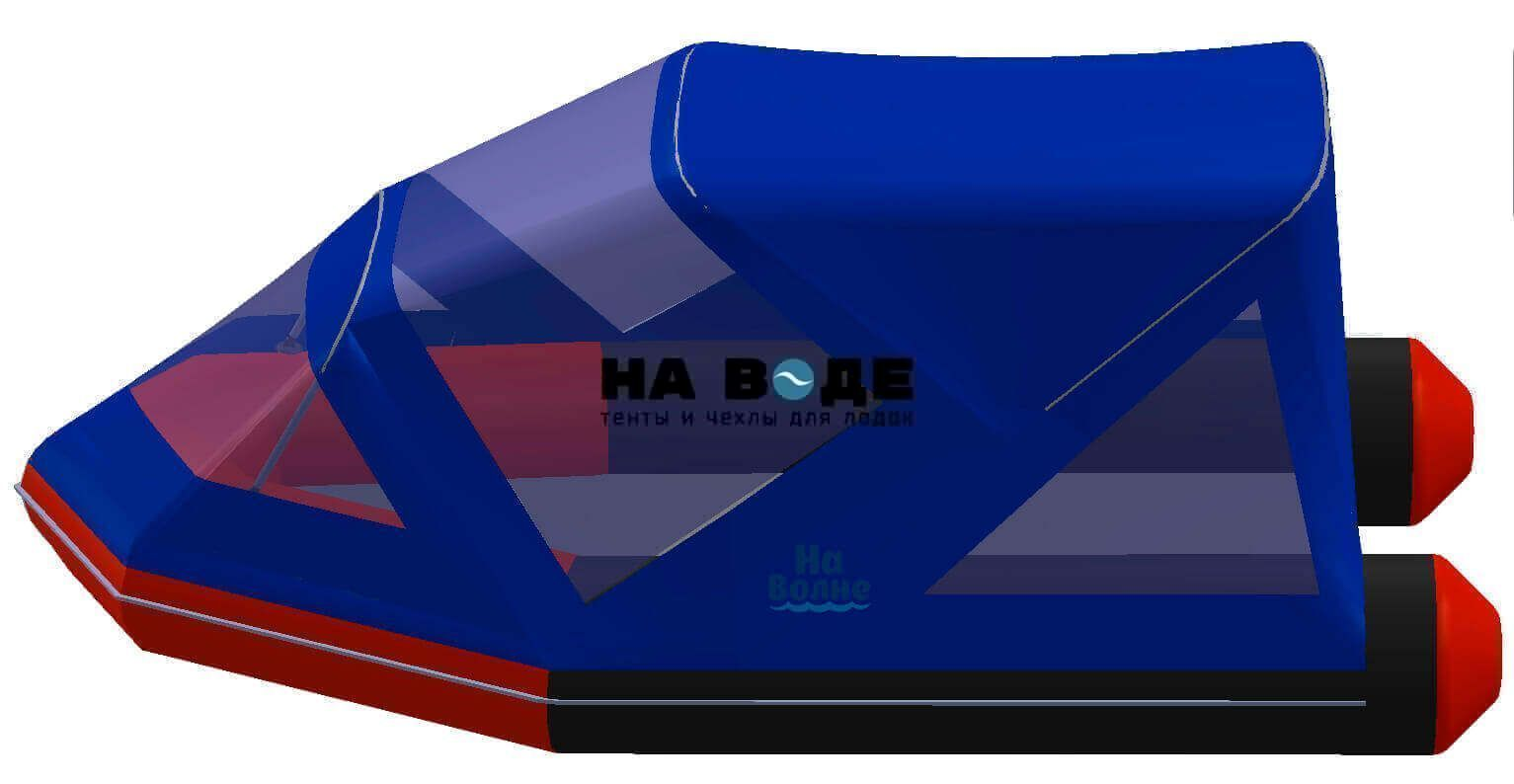 Тент комбинированный на лодку Лоцман М340 (Киль), комплектация Классик - фото 3