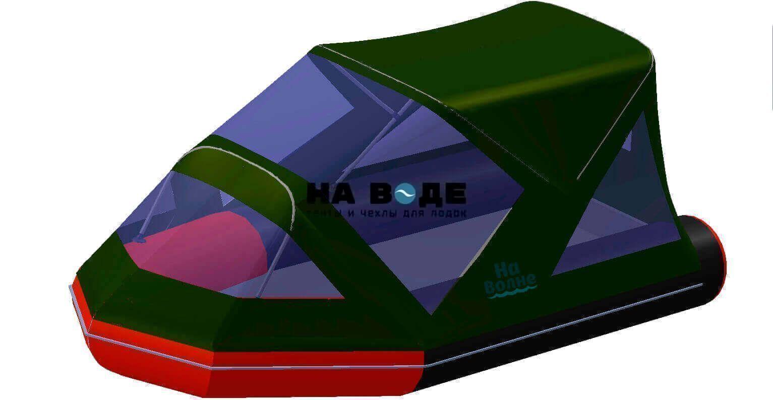 Тент комбинированный на лодку Лоцман М340 (Киль), комплектация Классик - фото 8
