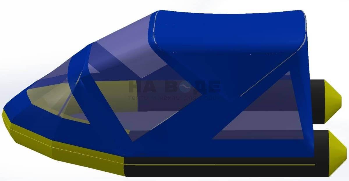 Тент комбинированный на лодку Quicksilver (Квиксильвер) Heavy-Duty 380, комплектация Классик - фото 4