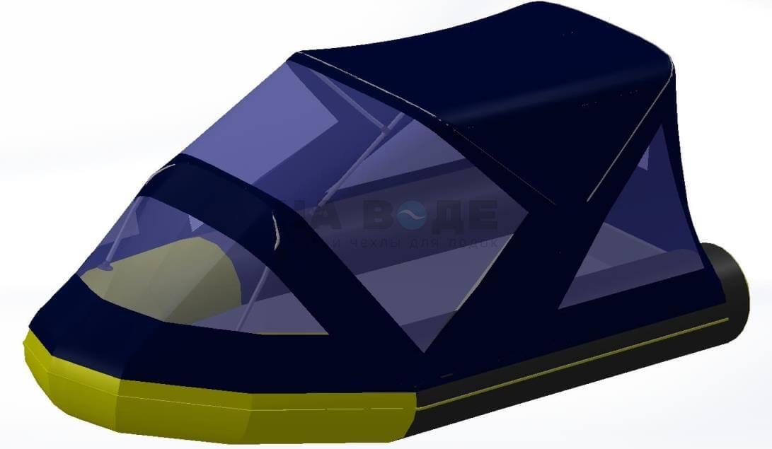 Тент комбинированный на лодку Quicksilver (Квиксильвер) Heavy-Duty 380, комплектация Классик - фото 5