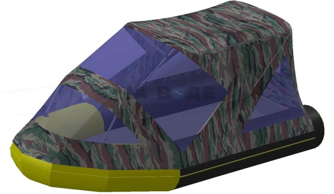Тент комбинированный на лодку Quicksilver (Квиксильвер) Heavy-Duty 380, комплектация Классик - фото 6