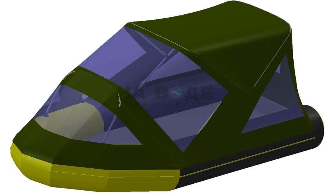 Тент комбинированный на лодку Quicksilver (Квиксильвер) Heavy-Duty 380, комплектация Классик - фото 7