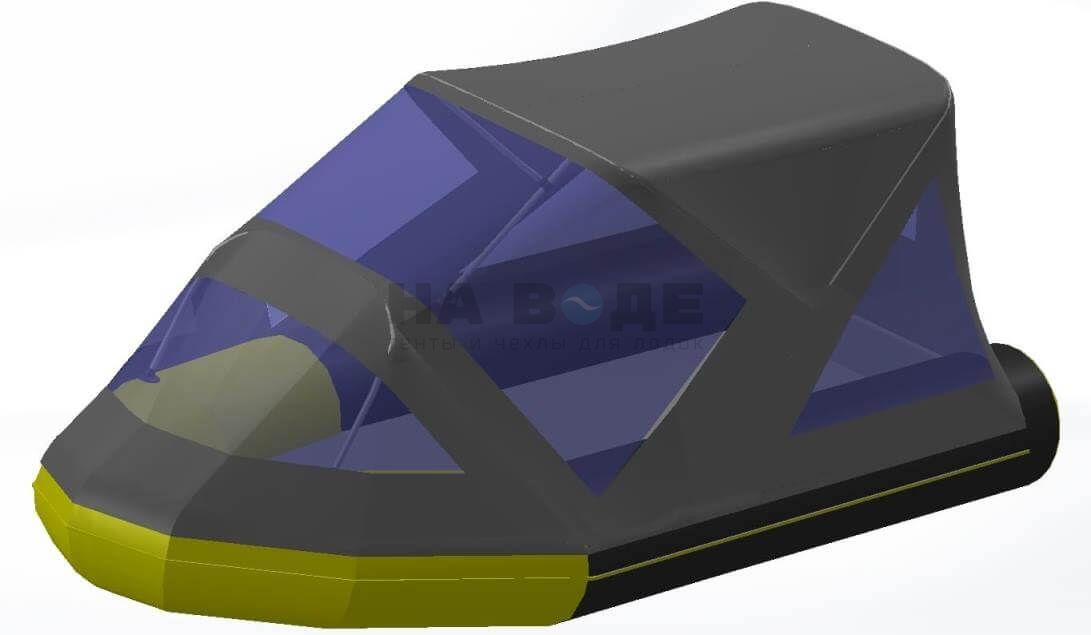 Тент комбинированный на лодку Quicksilver (Квиксильвер) Heavy-Duty 380, комплектация Классик - фото 8