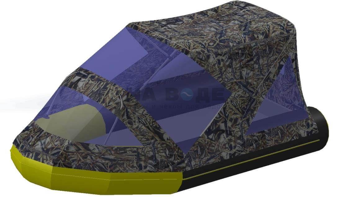 Тент комбинированный на лодку Quicksilver (Квиксильвер) Heavy-Duty 380, комплектация Классик - фото 9