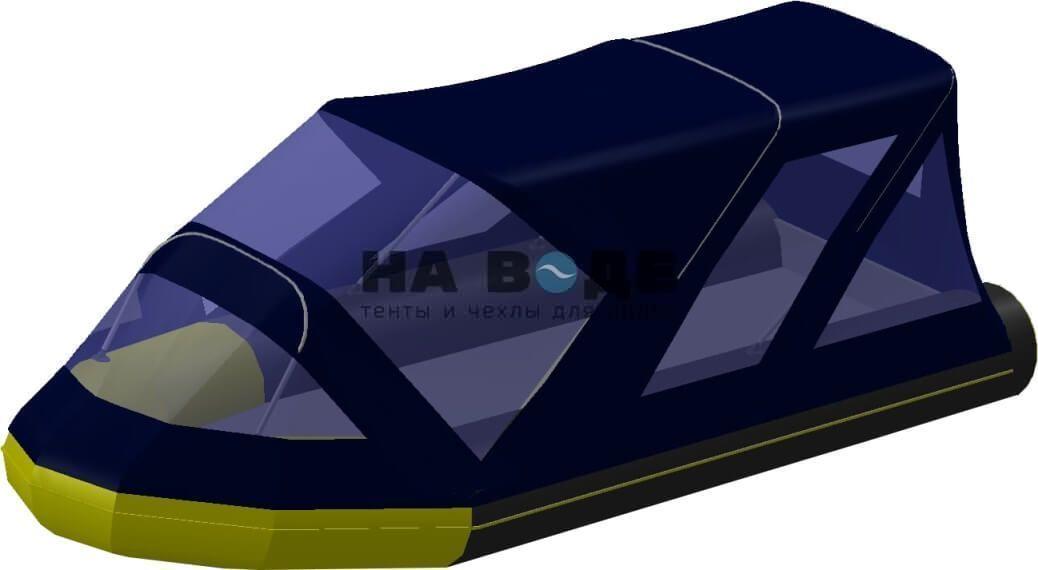 Тент комбинированный на лодку Quicksilver (Квиксильвер) Heavy-Duty 430, комплектация Классик - фото 4