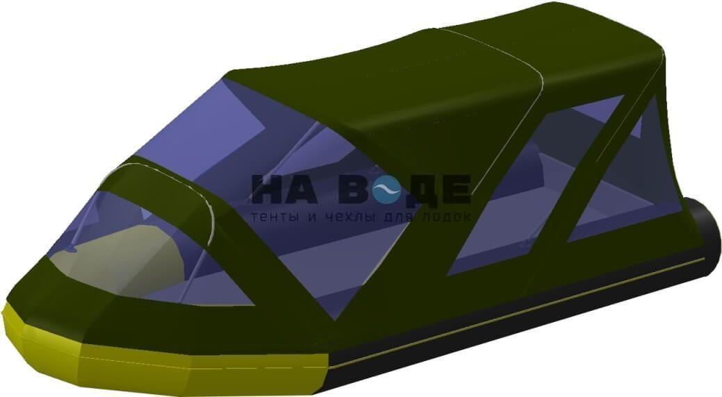 Тент комбинированный на лодку Quicksilver (Квиксильвер) Heavy-Duty 430, комплектация Классик - фото 5