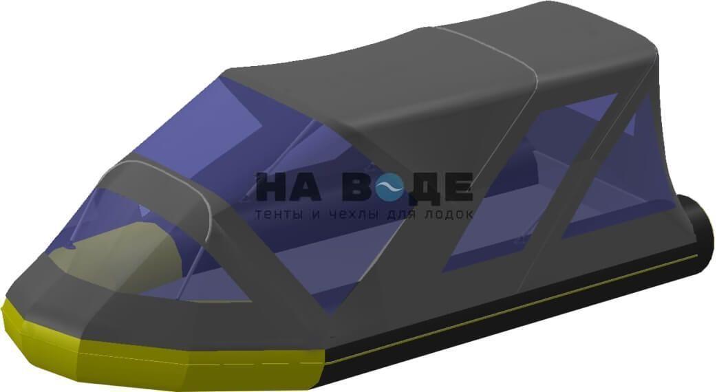 Тент комбинированный на лодку Quicksilver (Квиксильвер) Heavy-Duty 430, комплектация Классик - фото 6
