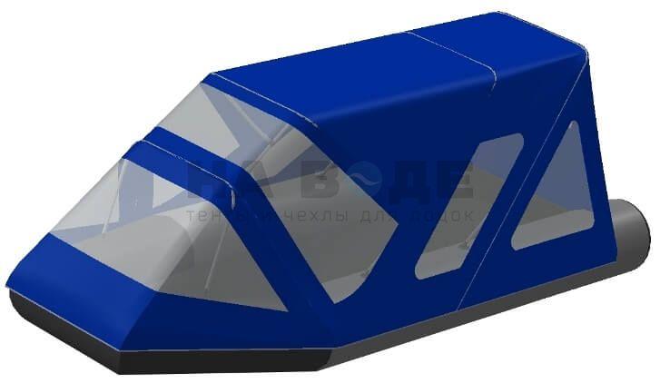 Тент комбинированный на лодку Aqua-Storm (Аква Шторм) STK 450 EVOLUTION, комплектация Классик - фото 1