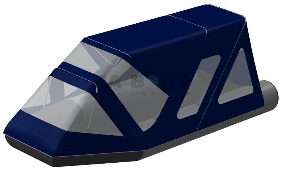 Тент комбинированный на лодку Aqua-Storm (Аква Шторм) STK 450 EVOLUTION, комплектация Классик - фото 2