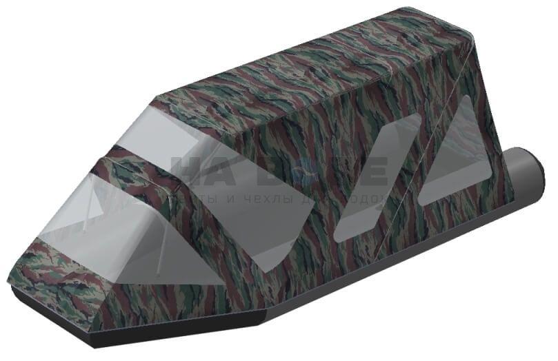 Тент комбинированный на лодку Aqua-Storm (Аква Шторм) STK 450 EVOLUTION, комплектация Классик - фото 6