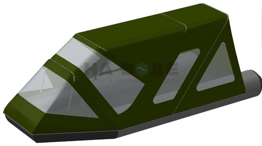 Тент комбинированный на лодку Aqua-Storm (Аква Шторм) STK 450 EVOLUTION, комплектация Классик - фото 7