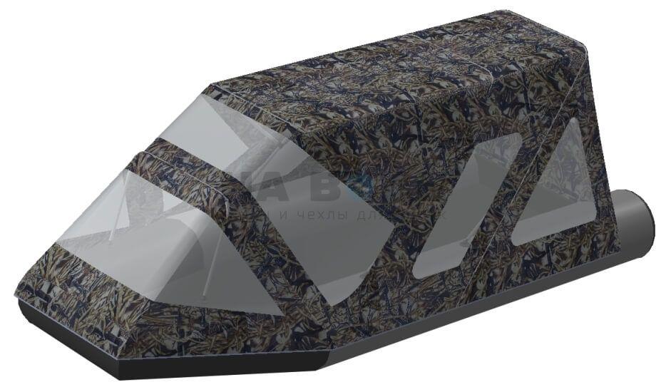 Тент комбинированный на лодку Aqua-Storm (Аква Шторм) STK 450 EVOLUTION, комплектация Классик - фото 8