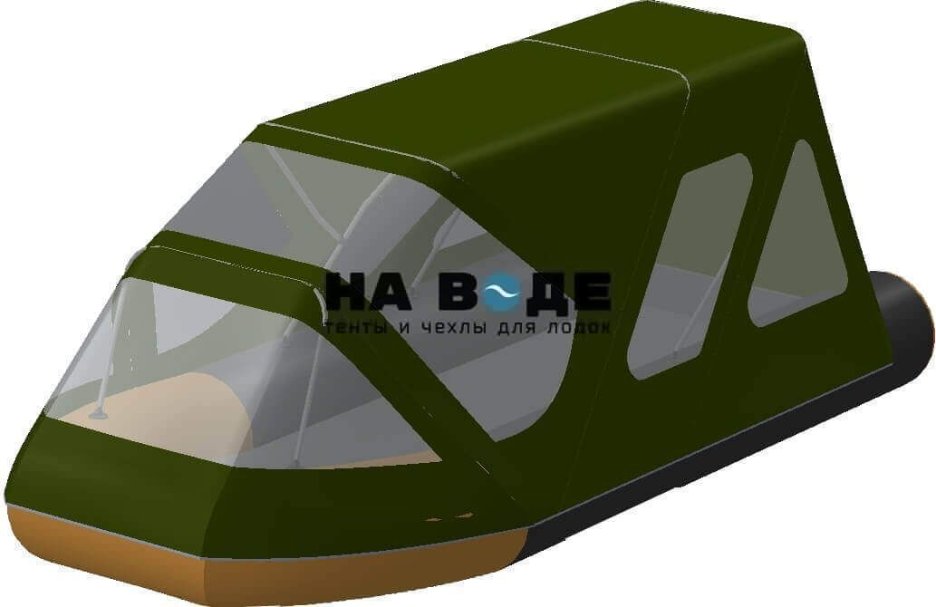 Тент комбинированный на лодку Altair (Альтаир) Pro ultra 440, комплектация Классик - фото 8