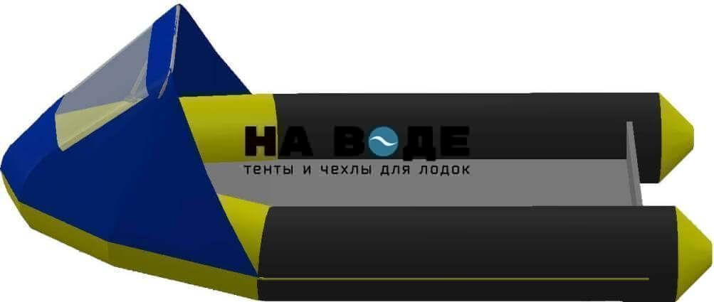 Тент носовой с окном на лодку Байкал 290МК - фото 3
