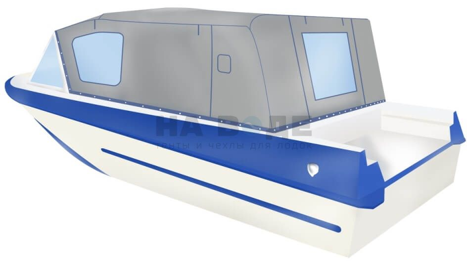 Ходовой тент на лодку Крым-М комплектация Стандарт - фото 3